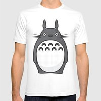 Totoro Pop Art - Beige Version Mens Fitted Tee White SMALL