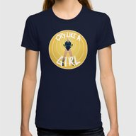 Black Canary // Cry Like… Womens Fitted Tee Navy SMALL