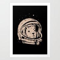 Astrollama Art Print