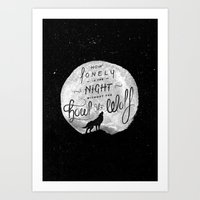 How Lonely The Night Art Print