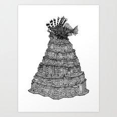 The Lionfish Village Art Print