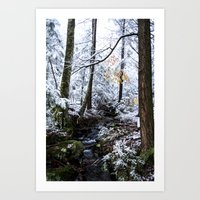 The First Woodland Snow Art Print