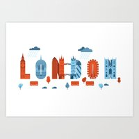 london Art Prints featuring London by Wharton