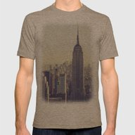 NYC Mens Fitted Tee Tri-Coffee SMALL