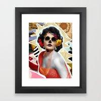 Golden Elizabeth Taylor (Sugar Skull Variant)  By Zabu Stewart Framed Art Print