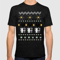 8bitChristmas Mens Fitted Tee Tri-Black SMALL