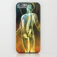 iPhone Cases featuring Dissecting the Alien by Steve Santiago