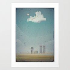 Farm times Art Print