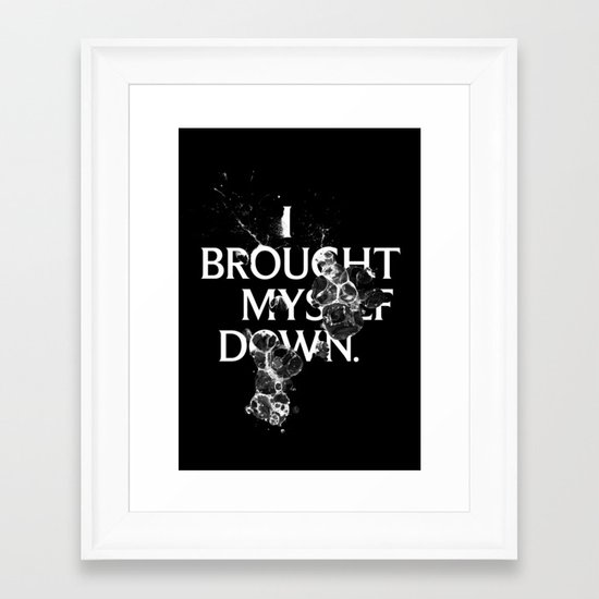 Nixon 01: I Brought Myself Down Framed Art Print