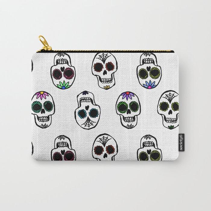 sugar skull pouch clutch bag purse makeup skulls pattern