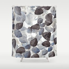 Shower Curtain - Blue Leaves - dada22