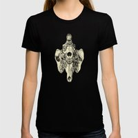 Coyote Skulls - Black and White Womens Fitted Tee Black SMALL