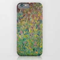 iPhone & iPod Case featuring FIELDS OF BLUE - WOW Modern Abstract Shades of Blue and Green in Nature Theme Grass Waves by EbiEmporium