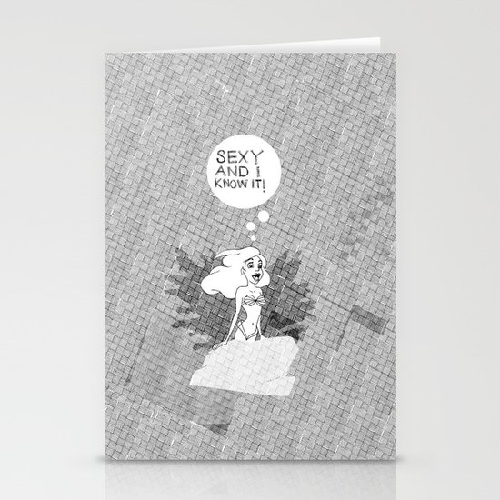 SEXY & I KNOW IT. Ariel The Little Mermaid Stationery Card