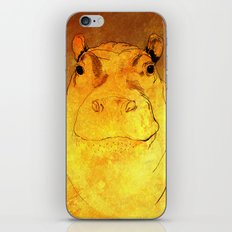 Golden Hippo iPhone & iPod Skin