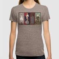 The Haunted Galaxy Womens Fitted Tee Tri-Coffee SMALL