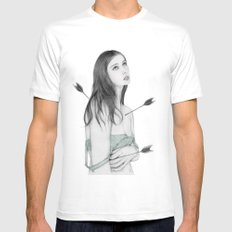 Lust Mens Fitted Tee SMALL White