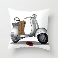 Vespa GS & Casual Stuffs Throw Pillow