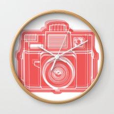 I Still Shoot Film Holga Logo - Red Wall Clock