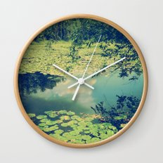 Lily Pad Pond Wall Clock