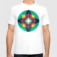 Chromasphere Mens Fitted Tee White SMALL