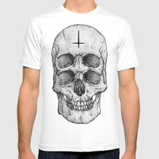 Skull II Mens Fitted Tee White SMALL