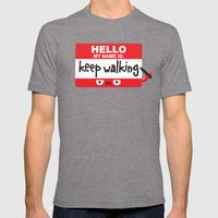 The Red Badge Of Discour… Mens Fitted Tee Tri-Grey SMALL