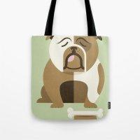 Bulldog - Green Variant Tote Bag
