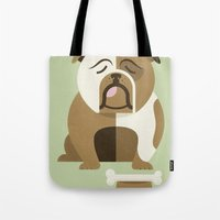 Bulldog - Green Variant Tote Bag