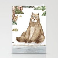 Mr.Brown is chilling by the river. Stationery Cards