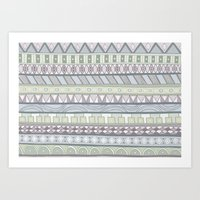 Simple Pattern Art Print