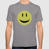 Smile Mens Fitted Tee Tri-Grey SMALL