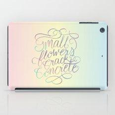 Small Flowers Crack Concrete iPad Case