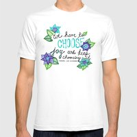 Choose Joy Mens Fitted Tee White SMALL
