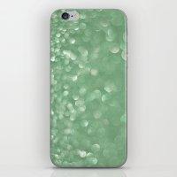 Seafoam bokeh iPhone & iPod Skin