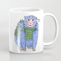 Peachtree The Chimp in Blue Mug