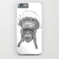 iPhone & iPod Case featuring Indian Headdress Monkey by WAMTEES