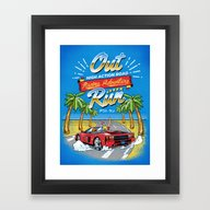 Racing Adventure Framed Art Print