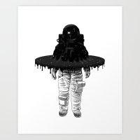 Through The Black Hole Art Print