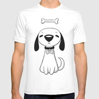 Puppy Bone Mens Fitted Tee White SMALL