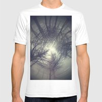 Circle of misty trees Mens Fitted Tee White SMALL