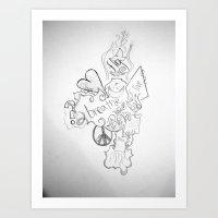 The Simple Elements Art Print
