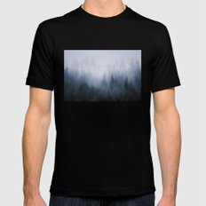 Misty fantasy forest. Mens Fitted Tee Black SMALL