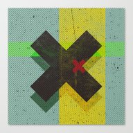 Canvas Print featuring CROSS by Metron