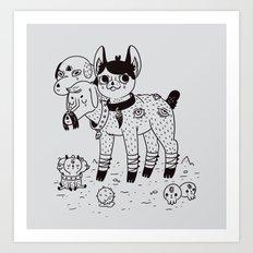 Beelzebub's Best Friends Art Print