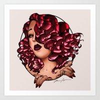 Redhead Vamp Art Print