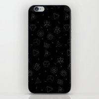 sacred seamless black iPhone & iPod Skin