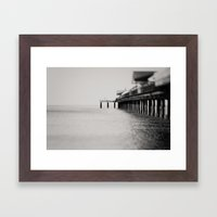 through the blur of her tears ... Framed Art Print