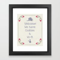 Cookies & Wi-Fi Framed Art Print