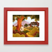 Pathway To Home Framed Art Print